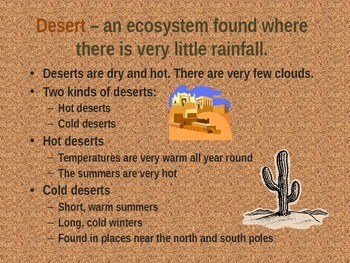 Desert, Forest And Water Ecosystems (PowerPoint)