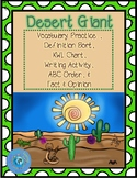 Desert Giant Vocabulary Practice