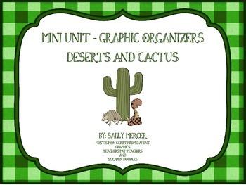 Desert Graphic Organizers