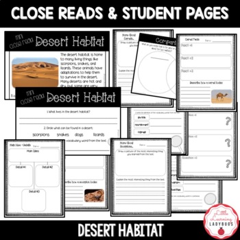 Desert Habitat Non-Fiction Resources {Close Reads & Informational Text}