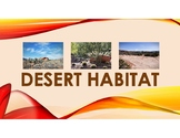 Desert Habitat PowerPoint with definitions and pictures of