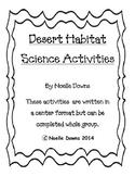 Desert Habitat Science Activities