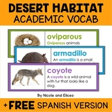 Desert Habitat Word Wall Vocabulary