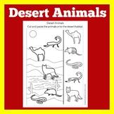 Desert Animals Worksheet | Desert Activity | Desert Biomes | Desert Habitat Cut