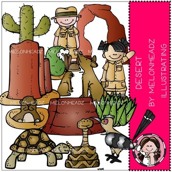 Melonheadz: Desert Habitat clip art - COMBO PACK