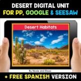 Desert Habitats Digital Activities for Google and Seesaw -