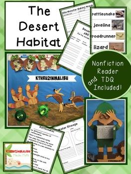Desert Habitats Unit Common Core Aligned with Craftivities