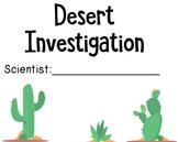 Desert Investigation - Habitats