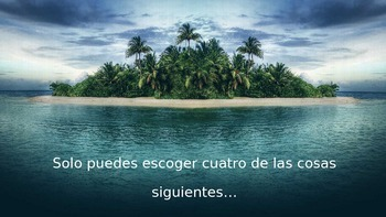 Desert Island Survival Scenario Activity Power Point (Spanish)