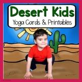 Desert  KIDS Yoga Cards and Printables