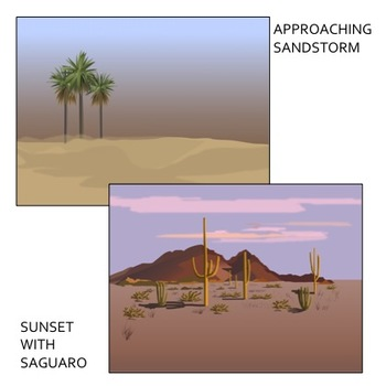 Desert Landscape Backgrounds Clip Art