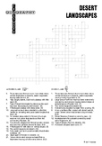 Desert Landscapes Crossword Puzzle