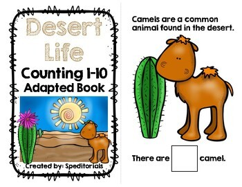 Desert Life Adapted Book (Counting 1-10)
