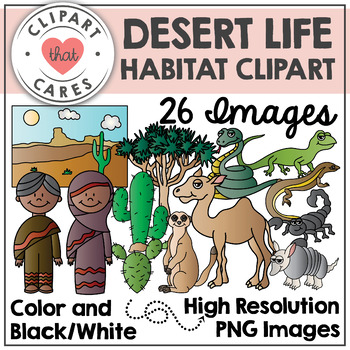 Desert Life Clipart by Clipart That Cares