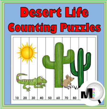 Desert Theme Counting Puzzles  & Skip Counting - Numbers 1-120