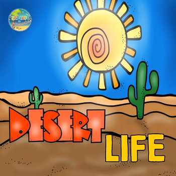 Desert Life Vocabulary Word Cards