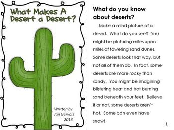 Desert Literacy Activities