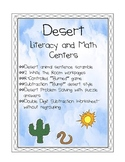Desert- Literacy and Math Centers and Games