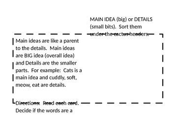 Desert Main Ideas Details Center