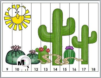 Desert Number Puzzles - Numbers 1-20