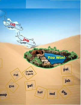 Desert Oasis Folder Game Phonics Short Vowel a