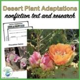Desert Plant Adaptations Informational Reading Passages an