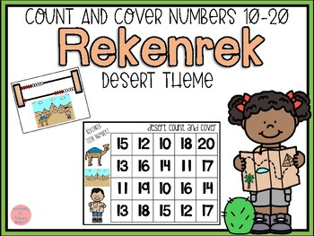 Desert Rekenrek Count and Cover Numbers 10-20