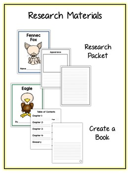 Desert Research Project - 14 Types, Vocab Cards, Packet, Book  + More!
