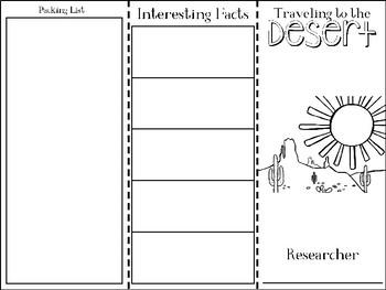 Desert Research Travel Brochure