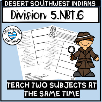 Southwest Desert Indians 5th worksheets Divide whole numbers