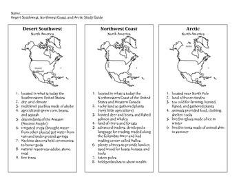 Desert Southwest, Northwest Coast, Arctic Notes