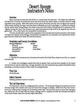 Desert Sponge (Zoology)