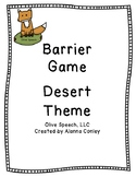 Desert Theme Barrier Game