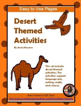 Desert Themed Activities