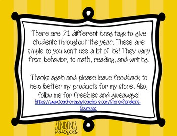 Desert Themed Brag Tags! Over 70 Ways to Reward Students!