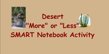 Desert Themed More or Less SMART Notebook Activity