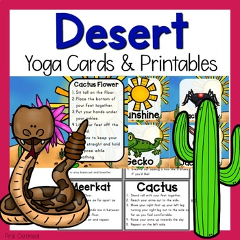 desert themed yoga cardspink oatmeal movement for the