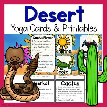 Desert Themed Yoga Cards