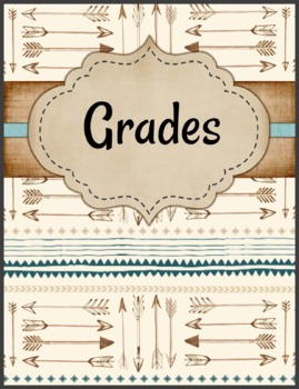 Desert Tribal binder covers, spines and tags - Aztec inspired