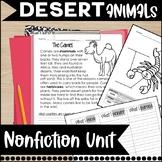 Desert Animals Activities Nonfiction Informational Text Unit