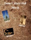 Desert Word Wall Words
