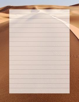 Desert Writing Template