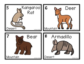 Desert and Mountain Animals Differentiated Write and Add the Room Center