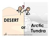 Desert or Arctic Biome Sorting Activity