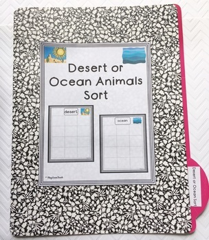 Desert or Ocean Sort for Autism and Early Childhood