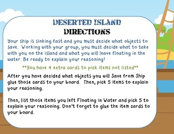Deserted Island- A Needs and Wants Activity
