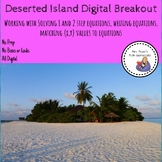 Deserted Island Digital Breakout working with 1 & 2 step e