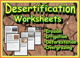 Desertification Worksheets (Deforestation, Erosion & Overgrazing)
