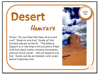 Deserts Habitat and Adaptations PDF Presentation