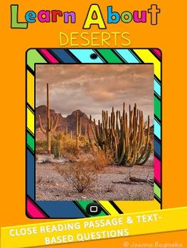 Deserts: LEVELED nonfiction,close reading passage